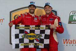 Race winnaars Lucas Luhr en Ryan Dalziel