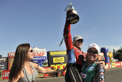 Laurie Force with Courtney Force and John Force