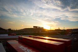 Sunset on Suzuka paddock