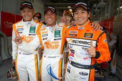GT300 polepositie voor winners Hiroki Yoshimoto, Kazuki Hoshino, Hiroki Yoshida