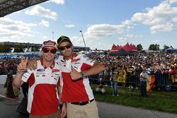 Nicky Hayden y Valentino Rossi, Ducati Marlboro Team