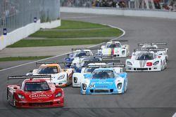 Start: #99 GAINSCO/Bob Stallings Racing Chevrolet Corvette DP: Jon Fogarty, Alex Gurney