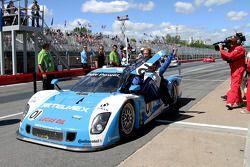 Race winnaar #01 Chip Ganassi Racing With Felix Sabates BMW Riley: Scott Pruett, Memo Rojas
