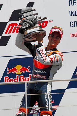 Podium: winnaar Dani Pedrosa, Repsol Honda Team