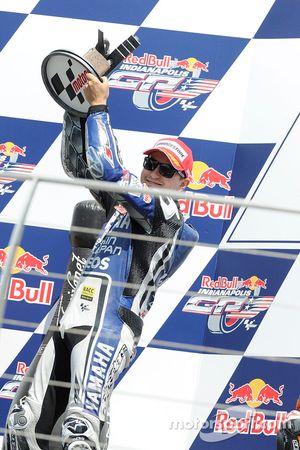 Podio:segundo lugar Jorge Lorenzo, Yamaha Factory Racing