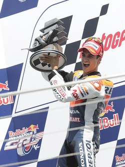 Podium: race winner Dani Pedrosa, Repsol Honda Team