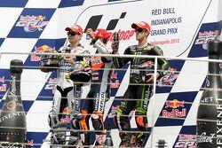 Podium : le vainqueur Dani Pedrosa, Repsol Honda Team, le deuxième, Jorge Lorenzo, Yamaha Factory Racing, le troisième, Andrea Dovizioso, Yamaha Tech 3