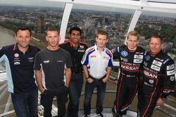 Darren Turner, Danny Watts, Karun Chandhok, Anthony Davidson, Alex Brundle and Martin Brundle
