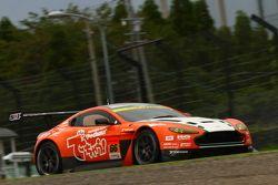#66 A Speed Aston Martin V8 Vantage: Hiroki Yoshimoto, Kazuki Hoshino, Hiroki Yoshida