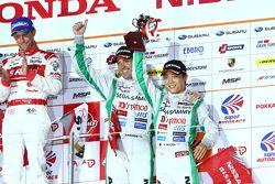 GT500 podium: third place Hironobu Yasuda and Bjorn Wirdheim