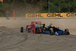 Chris Miller spint , crash met Roman Lagudi
