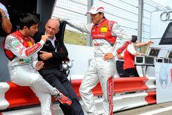 Mike Rockenfeller, Audi's Head of Sport, Timo Scheider, Audi Sport Team ABT Sportsline