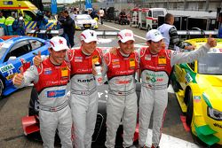 Filipe Albuquerque, Audi Sport Team Rosberg, Edoardo Mortara, Audi Sport Team Rosberg, Timo Scheider