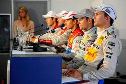 Persconferentie; Dirk Werner, Team HWA AMG Mercedes; Filipe Albuquerque, Audi Sport Team Rosberg; Ti