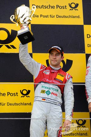 Podium: 2de Mike Rockenfeller, Audi Sport Team Phoenix Racing
