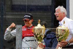 Podium: winnaar Edoardo Mortara, Audi Sport Team Rosberg