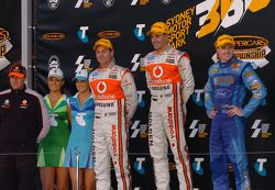 Podium: race winner Jamie Whincup, second place Craig Lowndes, third place Mark Winterbottom
