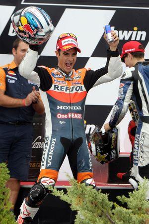 Podio: ganadro de la carrera Dani Pedrosa, Repsol Honda Team
