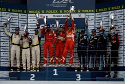 GTE-Am podium: winners Piergiuseppe Perazzini, Marco Cioci, Matt Griffin, second place Patrick Bornh