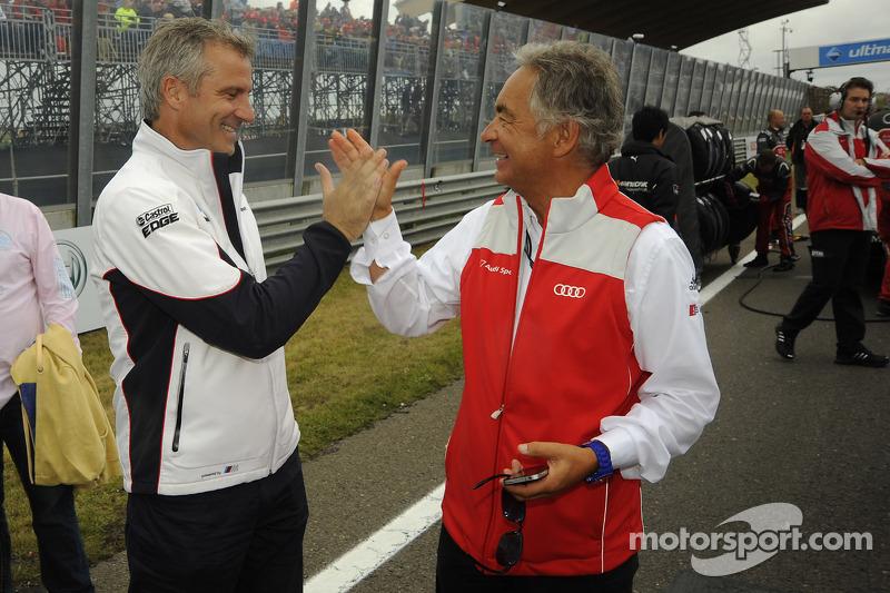 Jens Marquardt, BMW Motorsport Director; Jürgen Pippig, Audi Motorsport press officer