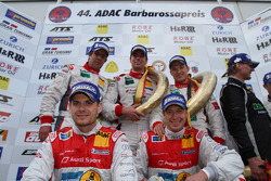 Podium: race winners Frank Biela, Christian Hohenadel, Thomas Mutsch, second place Marc Basseng, Frank Stippler