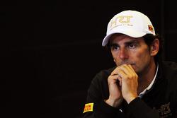Pedro De La Rosa, HRT Formula 1 Team en la Conferencia de prensa FIA