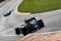 Romain Grosjean, Lotus F1 sparks at Eau Rouge