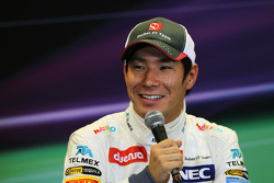 Kamui Kobayashi, Sauber en la post Conferencia de prensa FIA