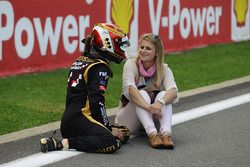 James Calado with girlfriend during red flag