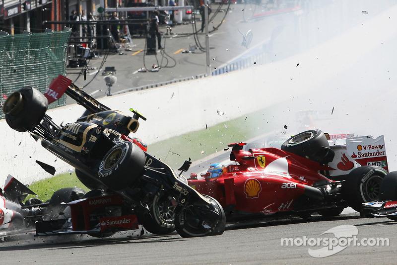 Гран При Бельгии-2012: завал имени Грожана, едва не убивший Алонсо