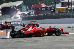 Фернандо Алонсо. ГП Бельгии, Воскресная гонка.