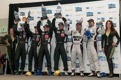 P1 podium: winners Michael Marsal, Eric Lux, second place Chris Dyson, Guy Smith, third place Klaus Graf, Lucas Luhr