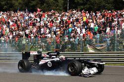 Pastor Maldonado, Williams abandonne avec un aileron avant cassé