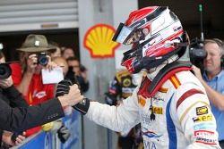 Race winner Josef Kral celebrates
