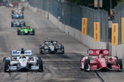 Scott Dixon, Target Chip Ganassi Racing Honda, Sébastien Bourdais, Dragon Racing Chevrolet