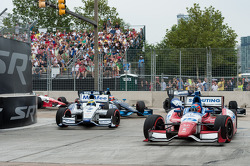 Mike Conway, A.J. Foyt Enterprises Honda, Sébastien Bourdais, Dragon Racing Chevrolet