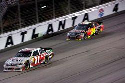 Denny Hamlin, Joe Gibbs Racing Toyota, Jeff Gordon, Hendrick Motorsports Chevrolet