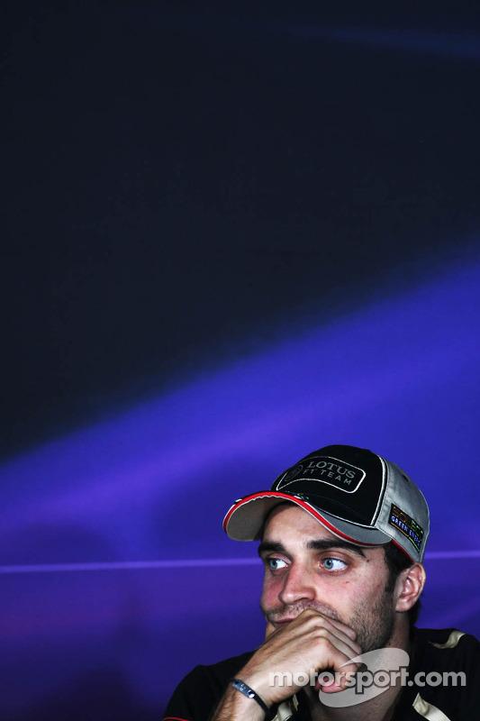 Jérôme d'Ambrosio, Lotus F1 Team in the FIA Press Conference