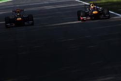 Sebastian Vettel, Red Bull Racing and team mate Mark Webber, Red Bull Racing