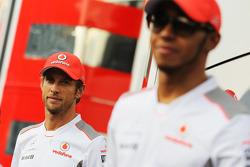 Jenson Button, McLaren y Lewis Hamilton, McLaren