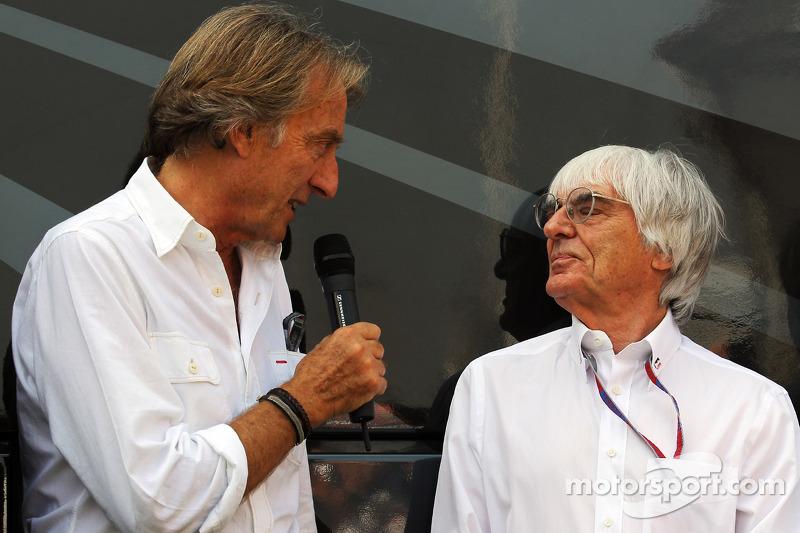 Luca di Montezemolo, Ferrari Başkanı ve Bernie Ecclestone, CEO Formula 1 Group