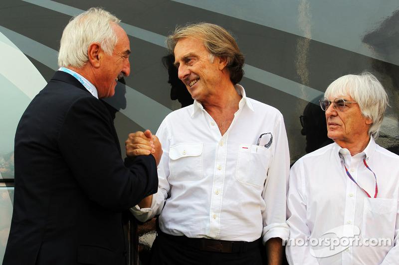 Alberto Bombassei, Brembo CEO ve Luca di Montezemolo, Ferrari Başkanı ve Bernie Ecclestone, CEO Form