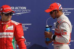 Pole for Lewis Hamilton, McLaren Mercedes, 3rd Felipe Massa, Scuderia Ferrari