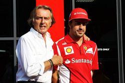 Luca di Montezemolo, presidente della Ferrari con Fernando Alonso, Ferrari
