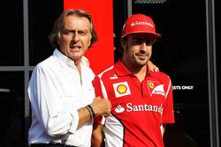 Luca di Montezemolo con Fernando Alonso