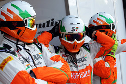 Sahara Force India F1 Team mechanics