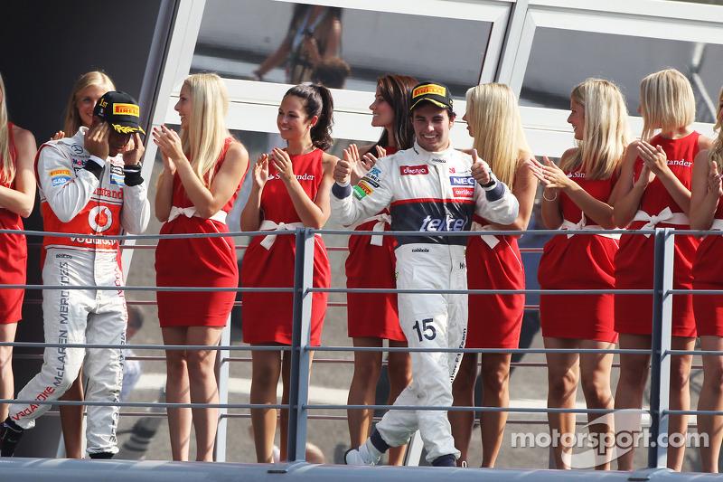 Podio: segundo lugar Sergio Pérez, Sauber