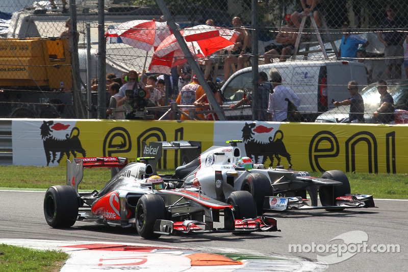 Lewis Hamilton, McLaren Mercedes y Sergio Perez, Sauber F1 Team