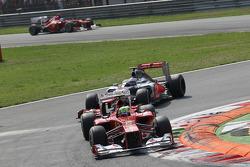 Felipe Massa, Scuderia Ferrari leads Jenson Button, McLaren Mercedes