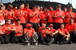 Race winner Lewis Hamilton, McLaren celebrates with Martin Whitmarsh, McLaren Chief Executive Office
